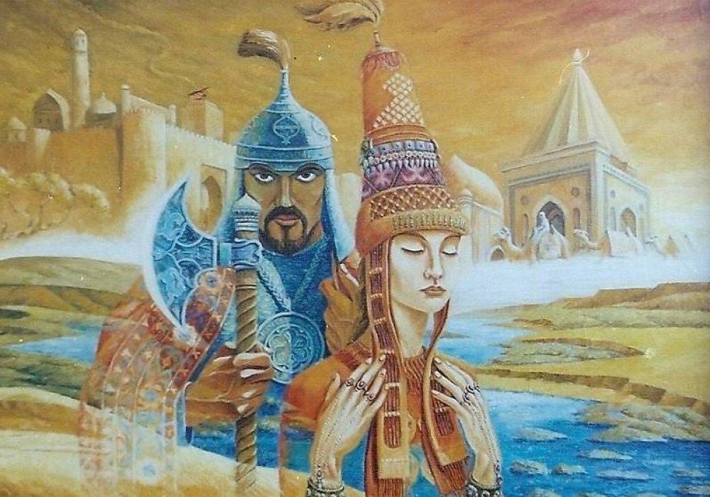 Постер по казахский