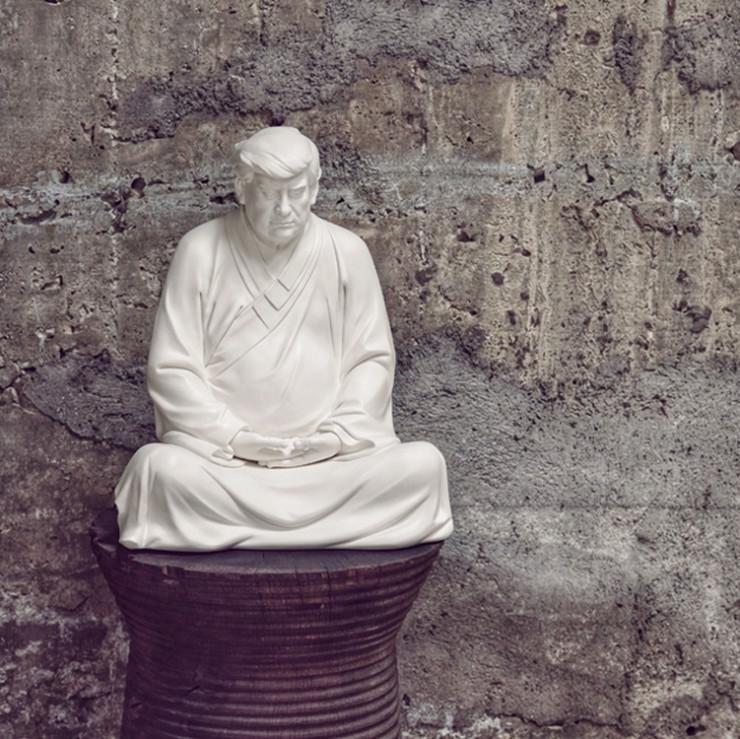 В Китае поступили в продажу статуи Трампа в образе Будды (ФОТО)